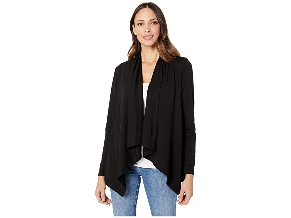 B Collection by Bobeau French Terry Cardigan (Black) Women