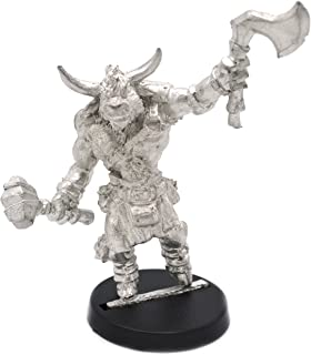Stonehaven Minotaur Fighter Male Miniature Figure (for 28mm Scale Table Top War Games) - Made in US