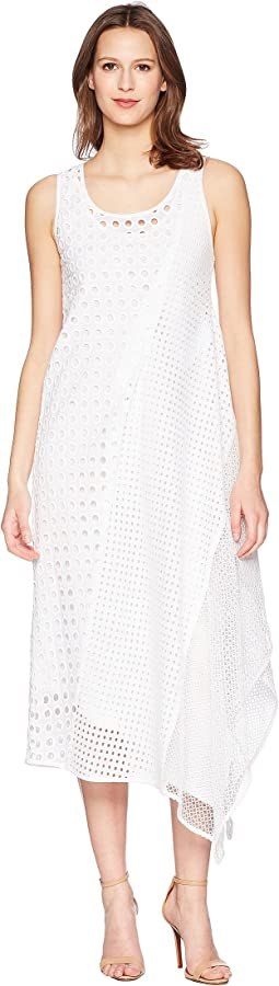 Abatina Textured Sheer Sleeveless Dress