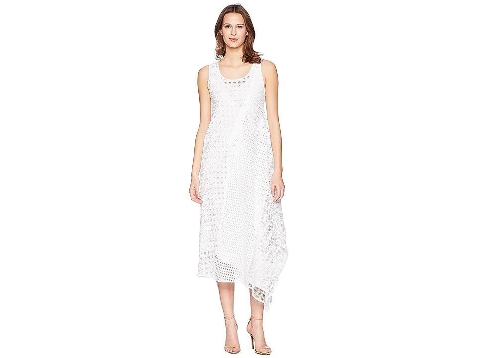 Sportmax Abatina Textured Sheer Sleeveless Dress (White) Women