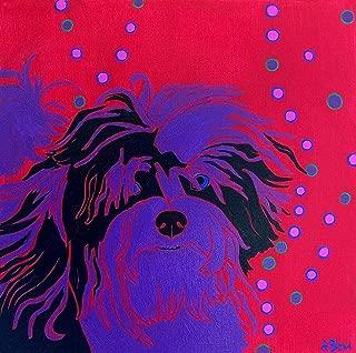 Havanese Art Print Pop ART Dog -Warhol Inspired - Colorful Dog Art - by Angela Bond