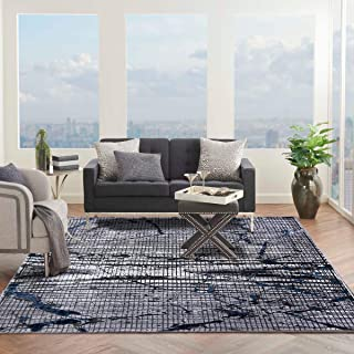 Al Salem Picasso Collection Carpet Modern Contemporary Area Rug 250 CM X 350 CM GREY BLUE