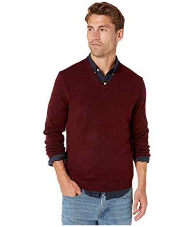J.Crew Xinao Merino V-Neck (Dark Burgundy) Men