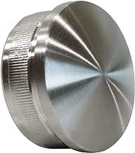 Tapa para tubería Encorvada 42,4/2 mm de acero inoxidable V2 A AISI304