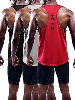 Neleus Men's 3 Pack Workout Running Tank Top Sleeveless Gym Athletic Shirts