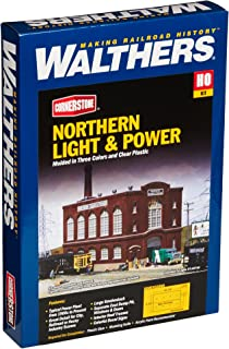 Walthers Cornerstone HO Scale Model Northern Light & Powerhouse Structure Kit