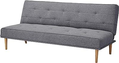 Marca Amazon - Movian Scutari - Sofá cama de tres plazas, 182 x 83 x 81, gris oscuro
