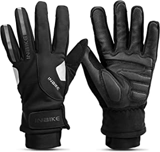 INBIKE Winter Cycling Gloves with 3MM Gel Pad Thermal Touchscreen Windproof Reflective Gloves for Outdoor Sports