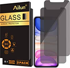 Ailun Privacy Screen Protector Compatible for iPhone 11/iPhone XR 6.1Inch 2 Pack Japanese Glass 0.25mm Anti Spy Tempered Glass Anti Scratch Case Friendly