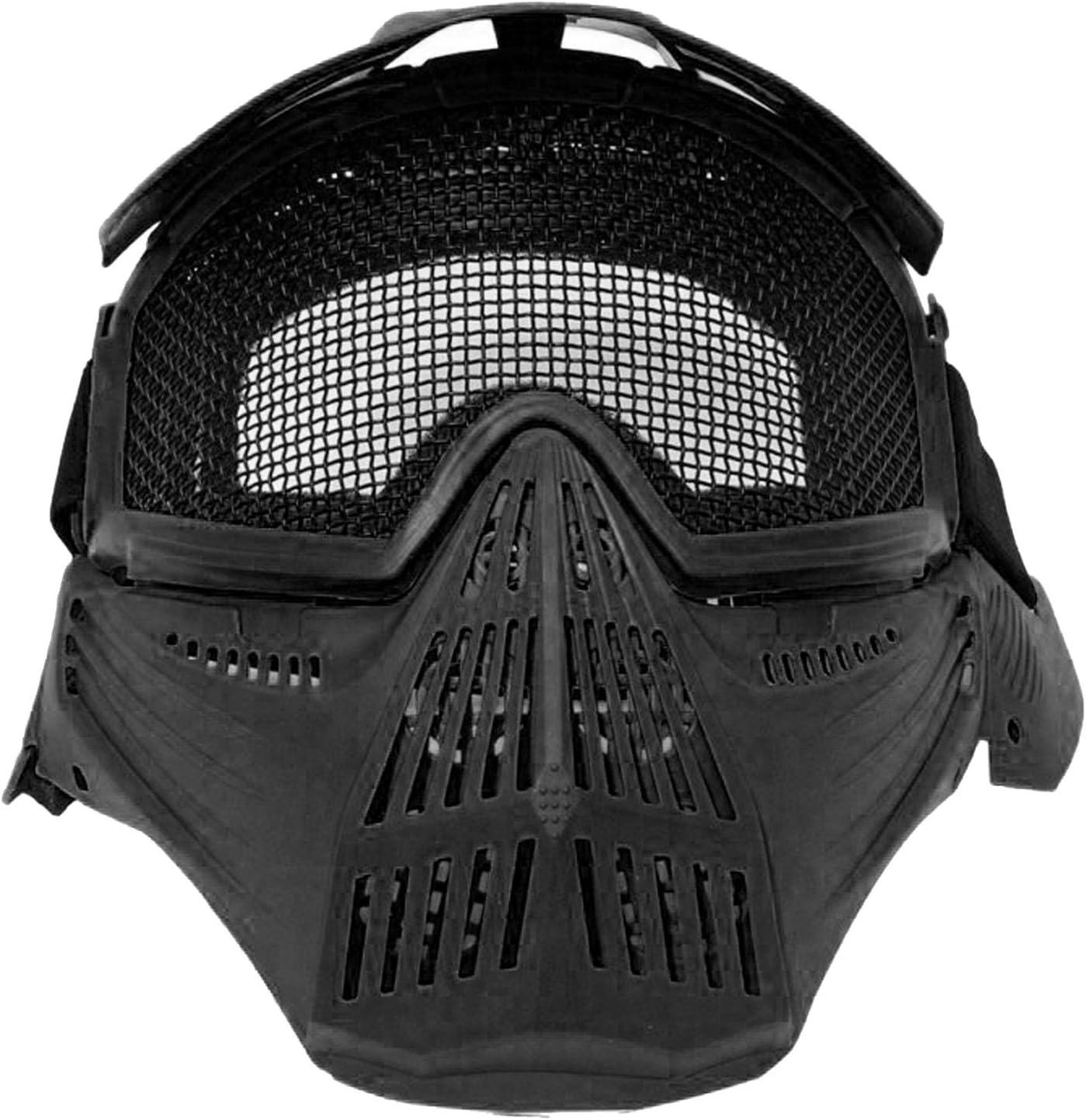 Maschera Soft Air Nera Protezione Totale Viso