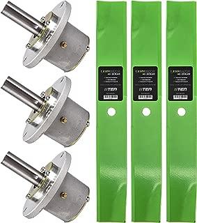 8TEN Spindle Hi-Lift Blade Kit for Exmark 52 Inch Deck Metro Viking Standard Five Speed Hydro Walk Behind Mowers