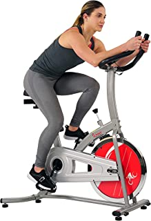 Sunny Health & Fitness Indoor Exercise Stationary Bike with Digital Monitor, 22 LB Chromed Flywheel