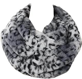 La Carrie Womens Leopard Print Infinity Scarf Loop Circle Neck Warmer