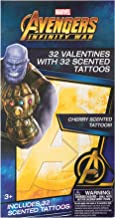 Paper Magic Group 4515025-ACAMZ Marvel Avengers Valentine's Day Cards and Scented Temporary Tattoos for Kids 64 Piece