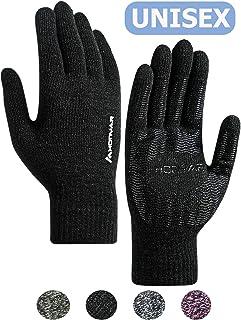 High-Density Carbon Fiber Windproof Waterproof Glove Warm Lining for Training Driving Cycling Running Work Anti-Slip Grip HONYAR Men Women Winter Gloves Lightweight Snug-Fit Touch Screen Fingers