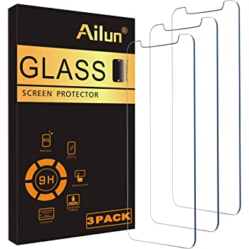 Ailun Glass Screen Protector Compatible for iPhone 11/iPhone XR, 6.1 Inch 3 Pack Tempered Glass