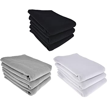 Daloual 9X Paño de cocina, 100 % algodón, 3X negro, 3X gris 3X blanco: Amazon.es: Hogar