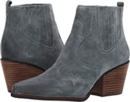 Grey Iris Velutto Suede Leather