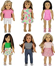 PZAS Toys 6 Outfit Set, Compatible with All 18 Inch Dolls