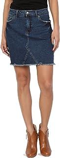TheMogan Vintage Ripped Jean Distressed Pencil Mini Midi Denim Skirt