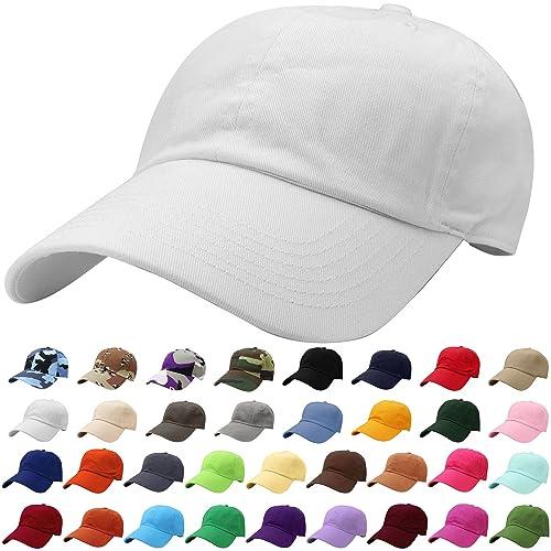 af1de4bfd10 Falari Classic Baseball Cap Dad Hat 100% Cotton Soft Adjustable Size