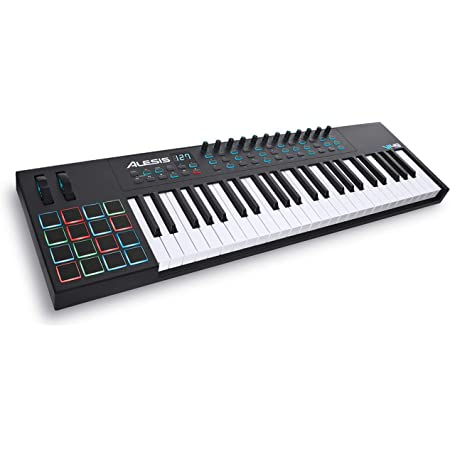 Alesis VI49 - Teclado Controlador MIDI USB de 49 Teclas con 16 Pads, 12 Mandos y 36 Botones Todos Asignables, Salida MIDI de 5 Puntas y un paquete de ...