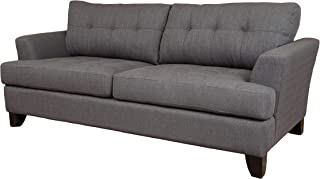 Handmade Norwich Charcoal Gray Polyester Sofa- 36