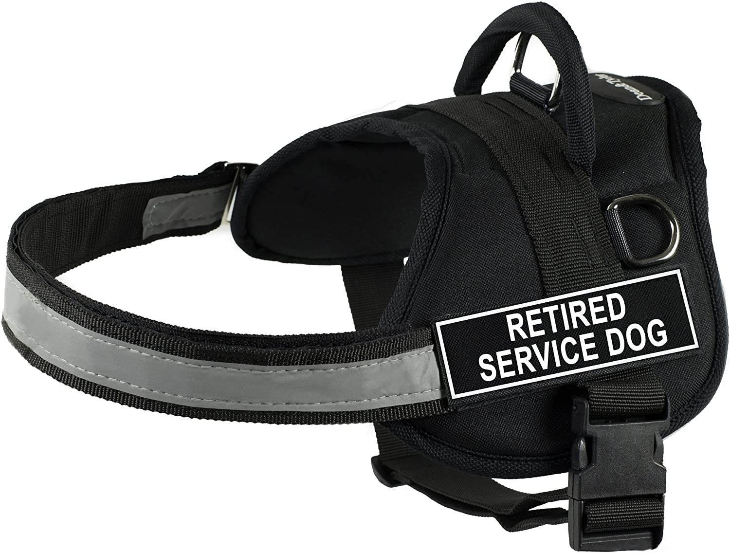Dean & Tyler 21Inch to 26Inch Pet Harness, XSmall, Retired Service Dog, Black