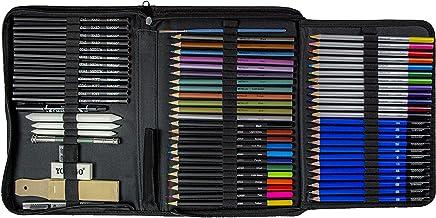 YOSOGO 71- Piece Drawing & Sketching Pencils Set, Artist Kit Includes Colored Pencils, Sketching Pencils Sets with Sketch ...