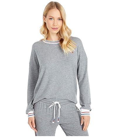 P.J. Salvage American Revival Sweatshirt (Heather Grey) Women
