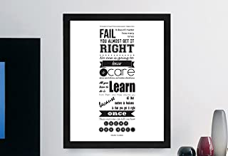 """Mark Cuban Inspirational Typography Quote B+w Print """"It Doesn't Matter"""" Wall Décor Illustration 8x10 on 8.5x11 Print"""