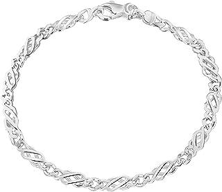 4832dc24a7 Tuscany Silver Pulsera de Plata de Ley para Mujer 18 cm