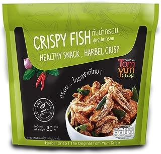 Tom Yum Crisp Crispy Fish Healthy Snack Herbal Crispy NO MSG 70G. (Anchovy, Cashew Nut and Tom Yum Herb)
