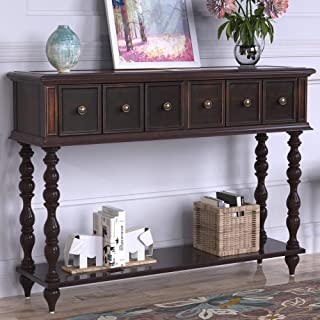 narrow console table with doors
