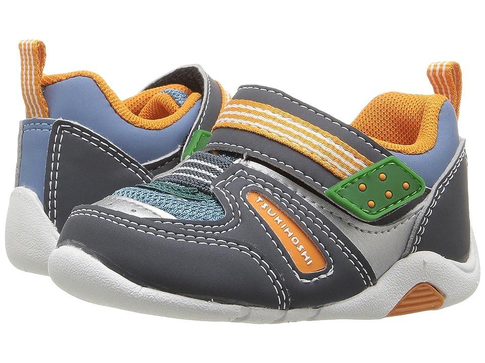 Tsukihoshi Kids Neko (Toddler) (Charcoal/Sea) Boys Shoes