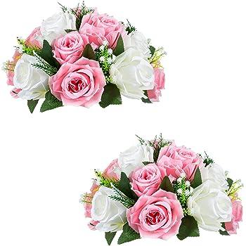 Sziqiqi 2 Piezas Bolas De Rosas, Bolas De Flores con Bandejas, Utilizadas para La Pérgola De Bodas Fiestas, Artículo De Uso para El Sitio De Boda Fiesta, 2 Piezas: Amazon.es: Hogar