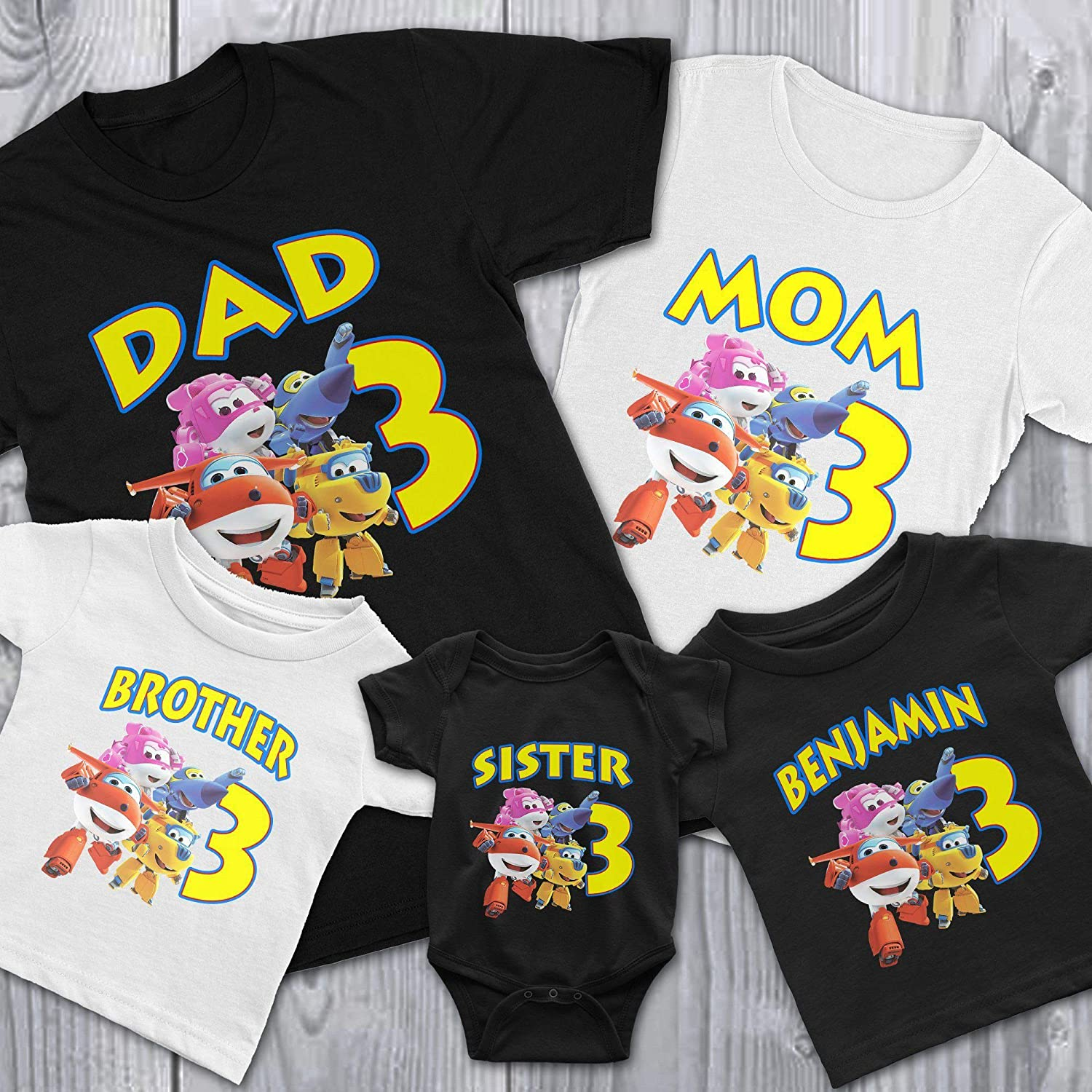 Top Wing Personalized Birthday Party Favor Gift T-Shirt NEW