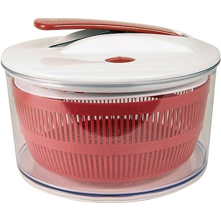 Easy Make KM4071 ESSOREUSE A Salade A Piston-Couleur ALEATOIRE, Plastique, Noir/Rouge/Vert, 24,5X24,5X16,5