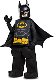 Disguise Batman Lego Movie Prestige Costume, Black, Small (4-6)