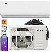 Della 12000 BTU WIFI Smart Control Mini Split Air Conditioner Ductless Inverter System 19 SEER 208-230V with Heat Pump
