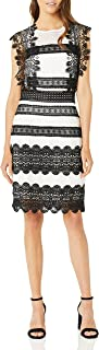 Nicole Miller womens Lace Combos Mini Dress Formal Dress
