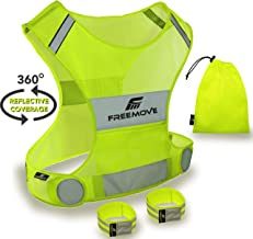 No.1 Reflective Vest Running Gear | YOUR BEST CHOICE TO STAY VISIBLE | Ultralight & Comfy Motorcycle Reflective Vest | Large Pocket & Adjustable Waist | Safety Vest in 6 Sizes + Hi Vis Bands & Bag