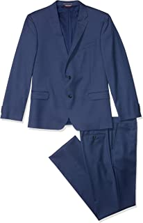 Men's Slim Fit Performance Suit with Stretch, New Navy, 36R