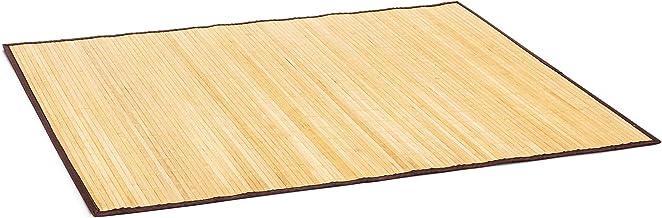 Relaxdays Badmat bamboe BxD: 100x80 cm badmat van hout met anti-slip onderkant als praktische douchemat van natuurlijke ba...