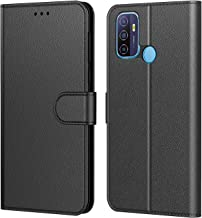 Tenphone Coque pour Oppo A53 / A53s 2020, Pochette Protection Etui Housse Premium en Cuir PU,Fermeture Magnétique,Plusieurs Couleurs Disponibles pour (Oppo A53/A53s (6,5 Pouces), Book Noir)