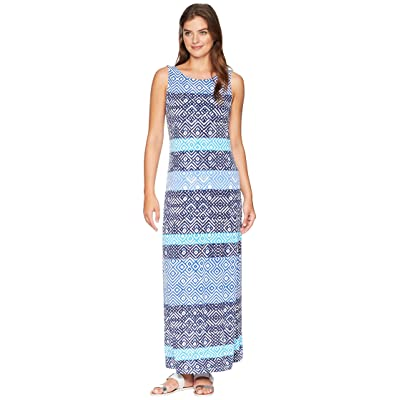 Tommy Bahama Mayan Maze Maxi Dress (Ocean Deep) Women