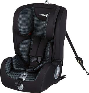 Safety 1st Ever Fix Silla Coche bebé Grupo 1 2 3 Isofix para niños 9 meses - 12 años (9-36 kg), Protección lateral segura, Cojín reductor confortable, Pixel Black