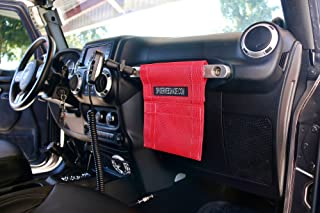 SPIDERWEBSHADE Jeep Wrangler Mesh GrabBag Passenger Accessory Storage Pouch OrganizerUSA Made with 5 Year Warranty in Red