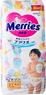 Merries TAPE Diapers, XL, 44ct (Pack of 4)
