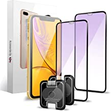 Homy Anti Blue Light Screen Protector for iPhone XR (2-Pack). Protect Your Eyes: Blocks Harmful Blue Light and Negative UV. Made of Real Premium Japanese 3D Tempered Glass with Advanced UHD Clarity.